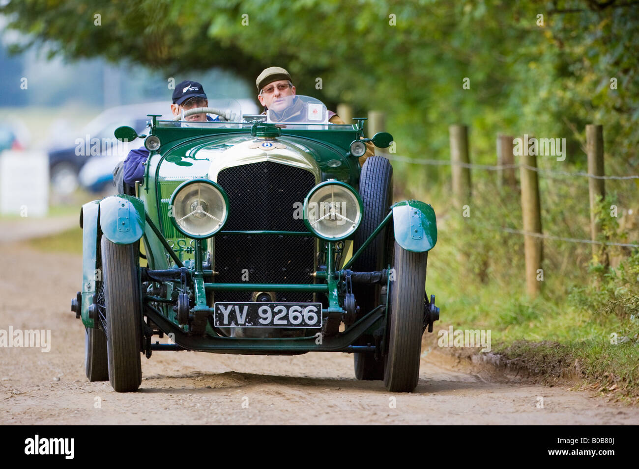 Superb Vintage Bentley Convertible Sports Car Being Driven In Charlton Park  Wiltshire UK