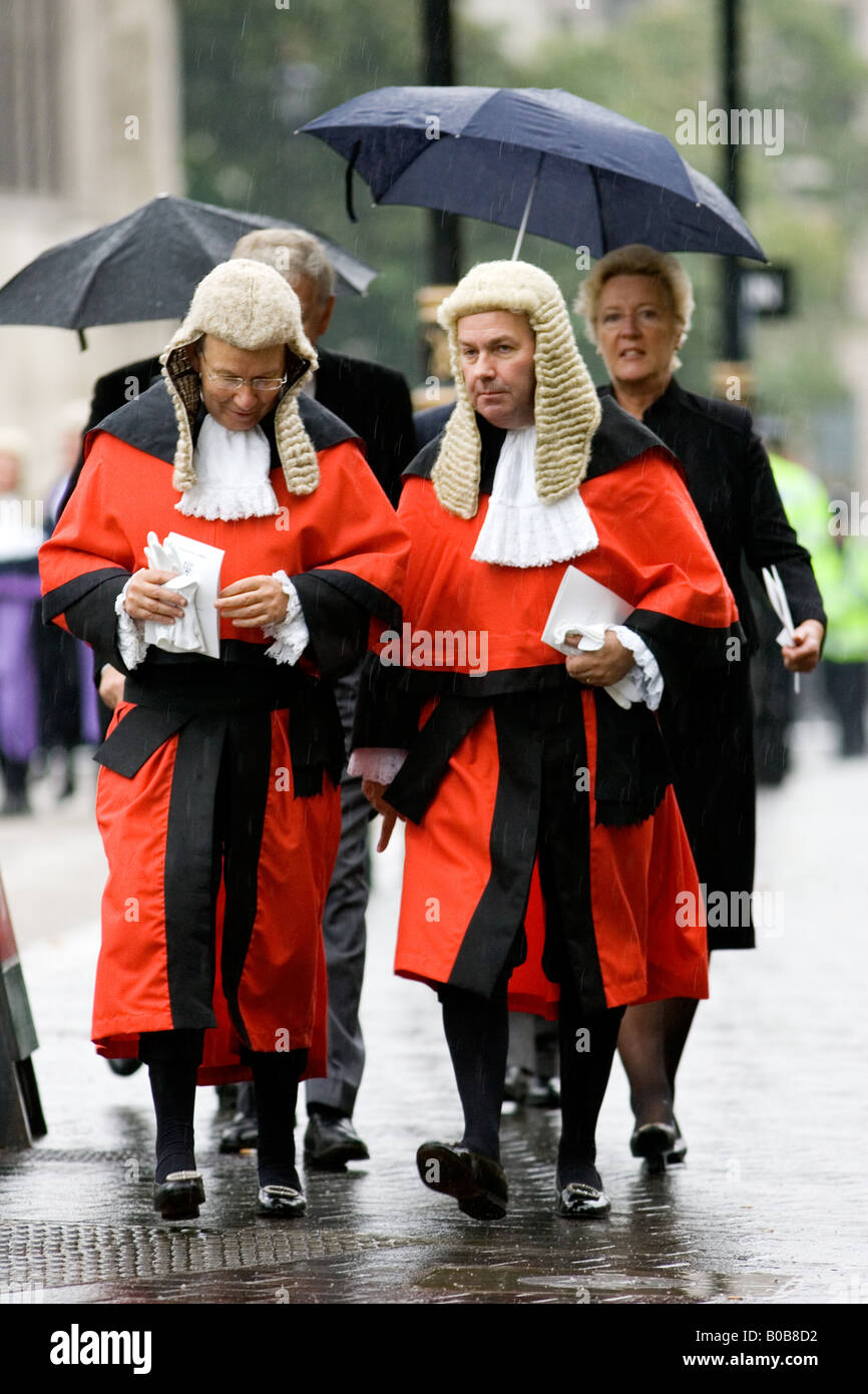 Judges Procession from Westminster Abbey London England United Kingdom - Stock Image