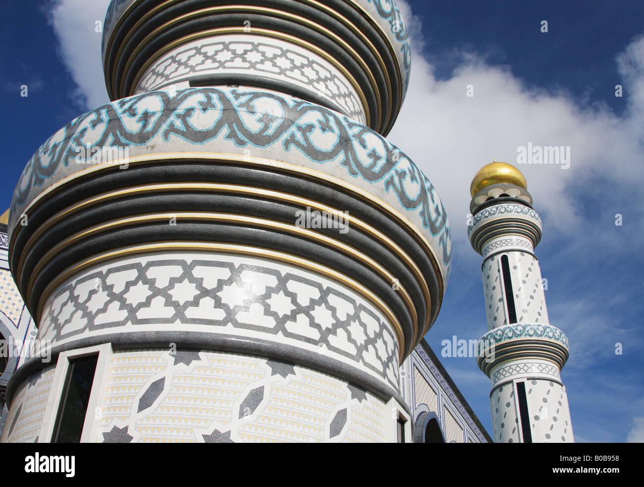 Towers Of Jame'asr Hassanal Bolkiah Mosque, Brunei - Stock Image