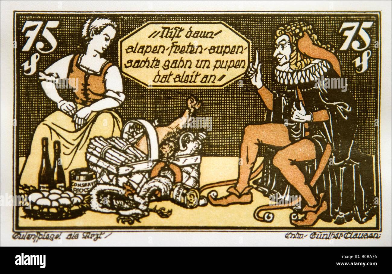 Till Eulenspiegel Karikatur caricature Germany - Stock Image