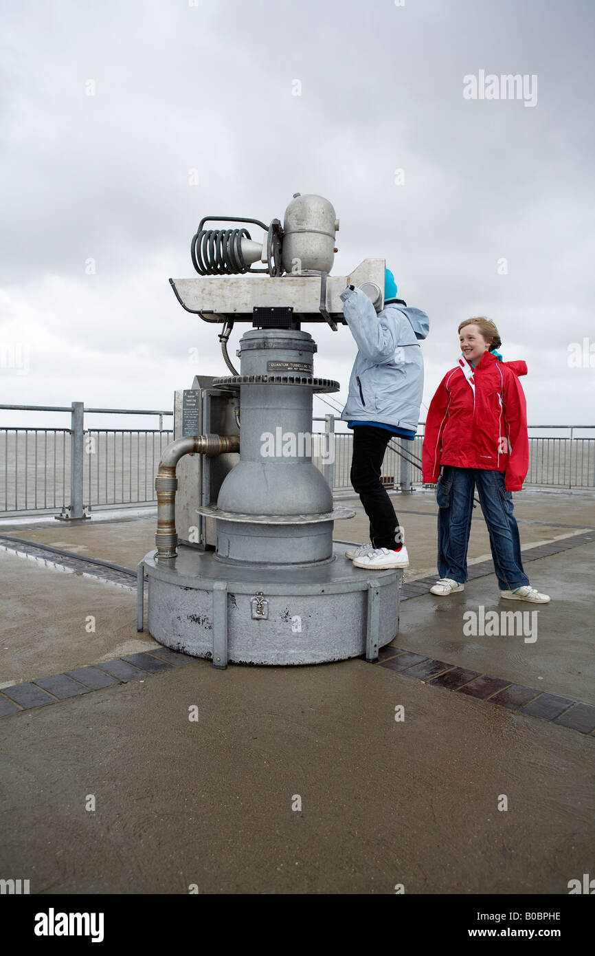 Quantum Tunnelling Telescope, Southwold Pier, first tested here on Southwold pier in 1968 - Stock Image