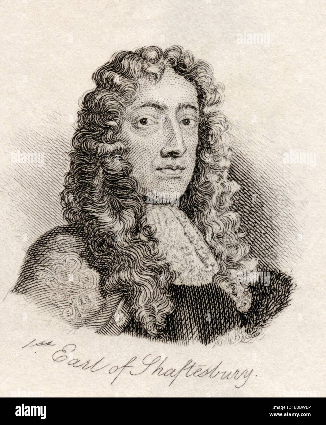 Anthony Ashley Cooper 1st Earl of Shaftesbury 1621 1683 also 2nd Baronet and The Lord Ashley English politician - Stock Image