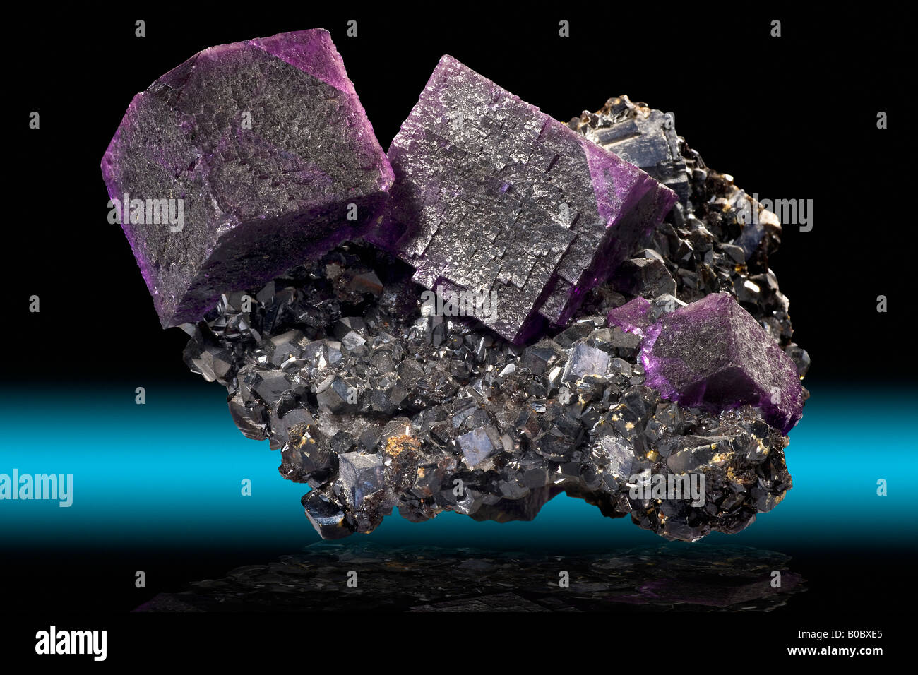 Fluorite on Sphalerite Cave In Rock Illinois - Stock Image