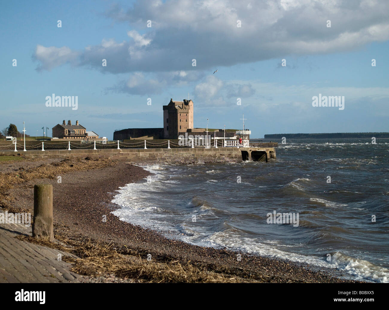 Broughty Ferry, and Castle, Dundee, Tayside, Scotland - Stock Image