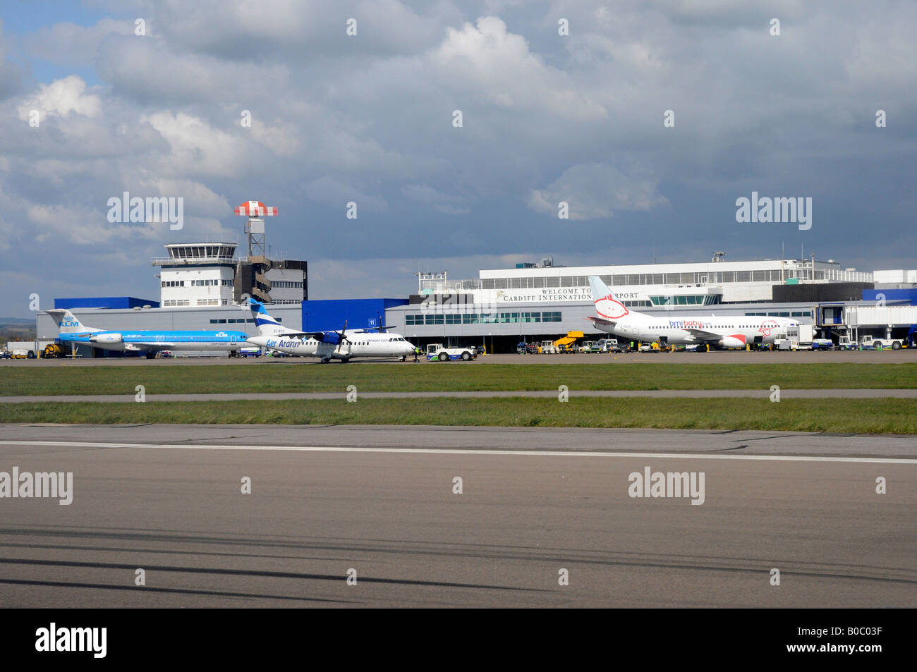 Cardiff Airport, Wales - Stock Image