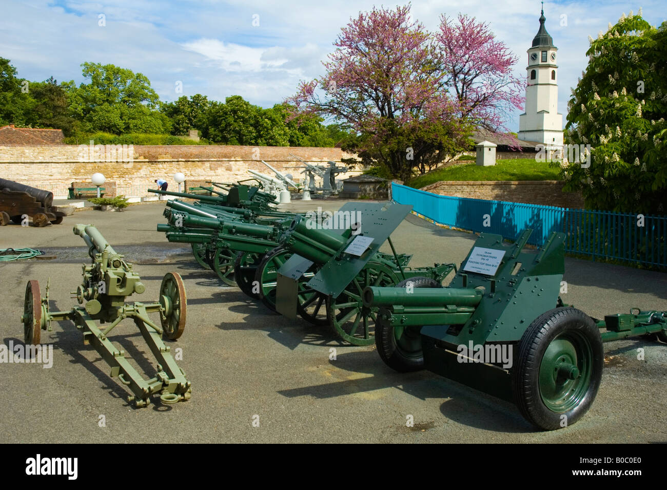 Artillery outside Military Museum in Belgrade Serbia Europe - Stock Image