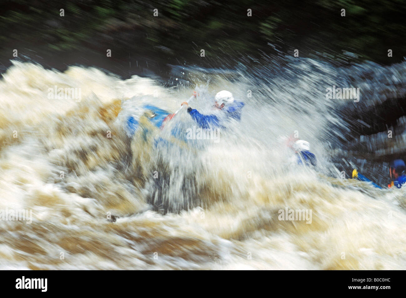 Rafting the Menominee River at Piers Gorge on the border of