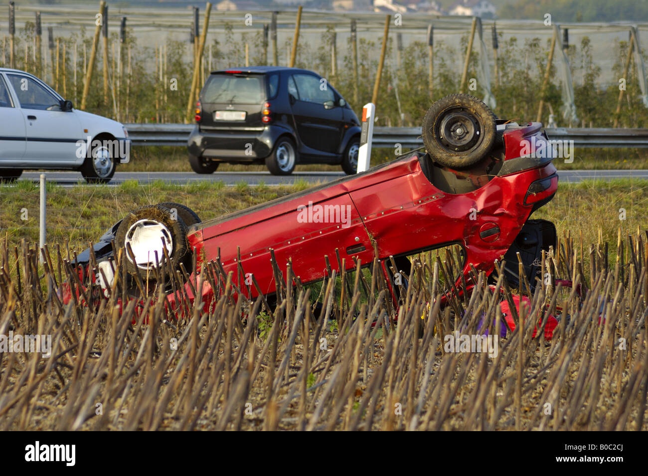 Car wreck - Stock Image