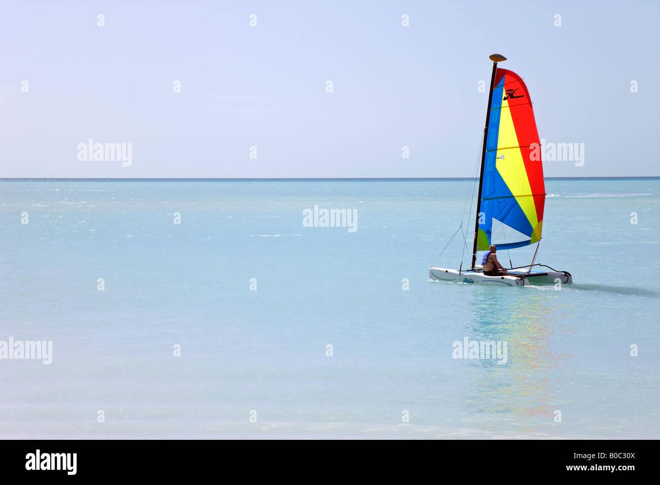 West Indies, Caribbean, Lesser Antilles, Leeward Islands, Antigua and Barbuda, Antiguas most famous beach - Jolly - Stock Image