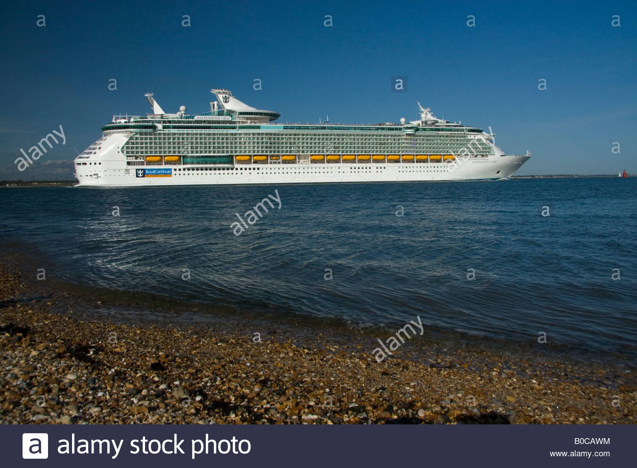Independence of the Seas Southampton Water - Stock Image