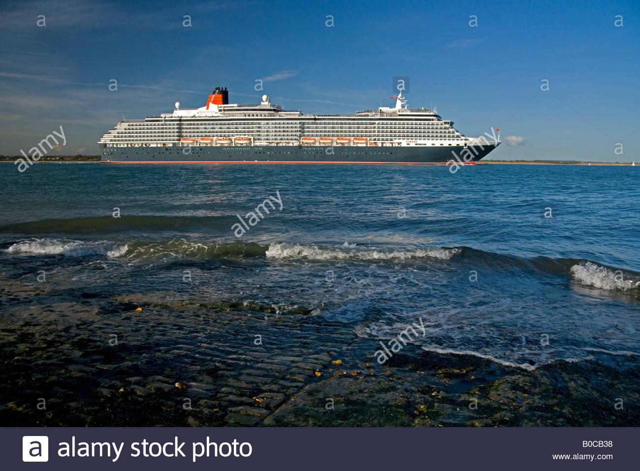 Queen Victoria Southampton Water - Stock Image