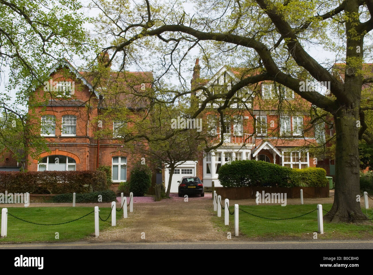 'Dulwich Village'  South London SE21 London UK Large Victorian family homes 'College Road' HOMER - Stock Image