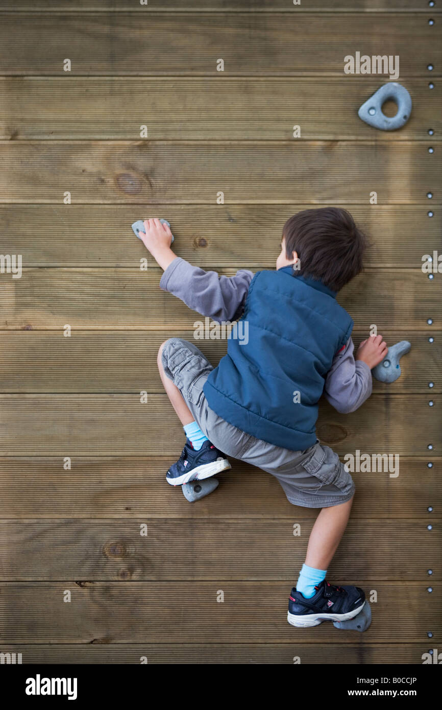 Adventure playground at local school Palmerston North New Zealand - Stock Image