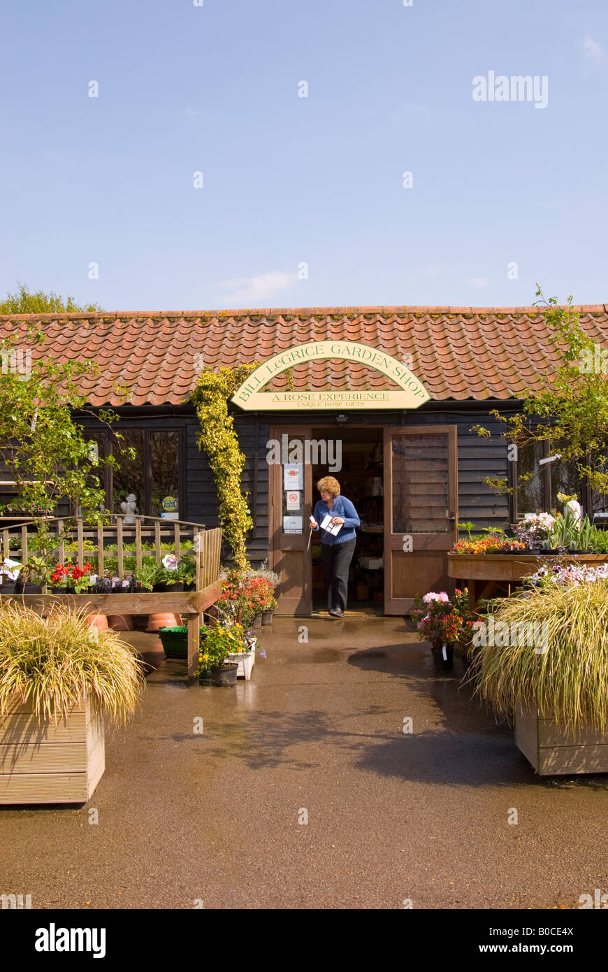 The Bill Legrice Garden Shop At Wroxham Barns In Norfolk,Uk Stock ...