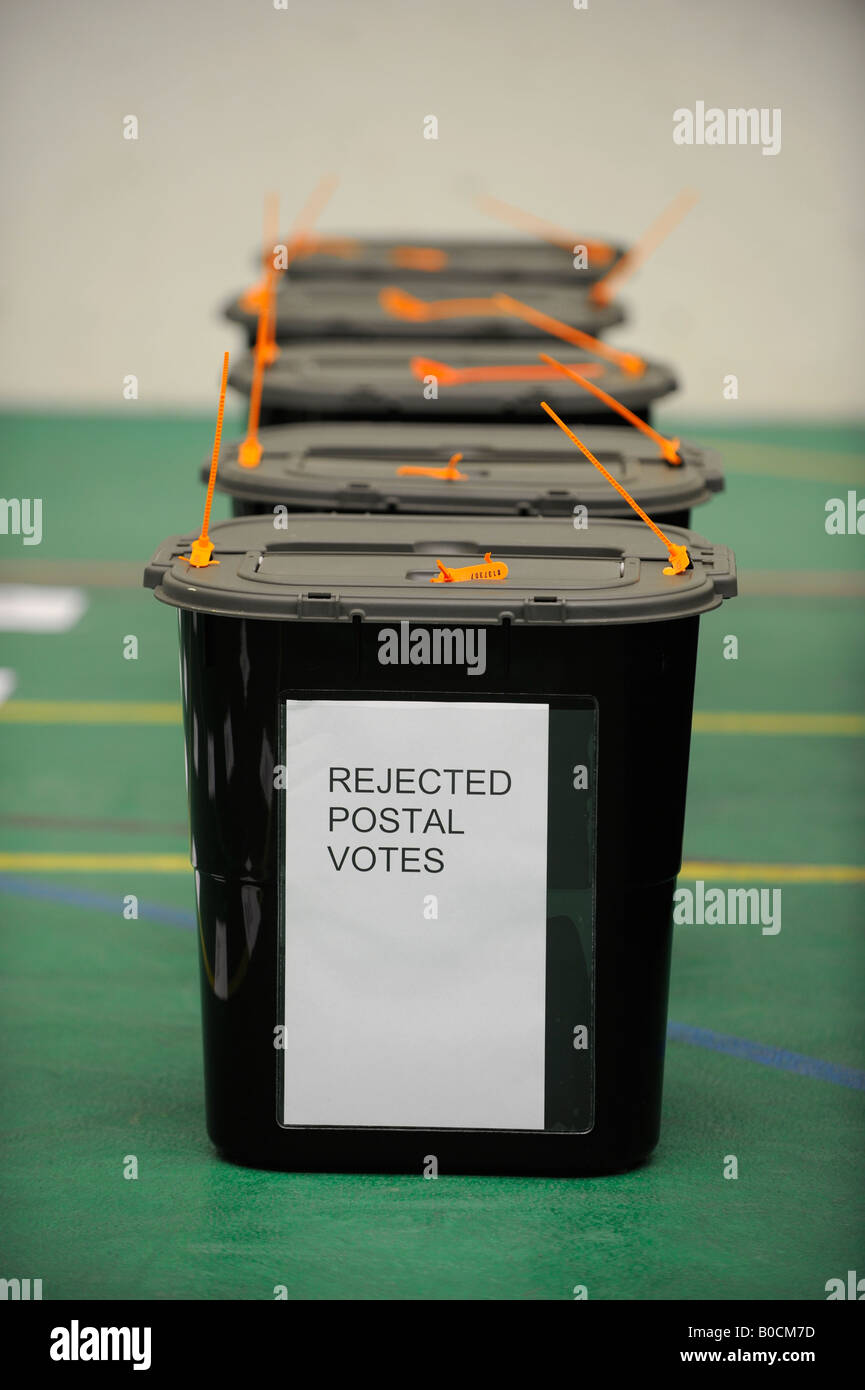 local elections 2008 rejected postal votes lie in ballot boxes - Stock Image