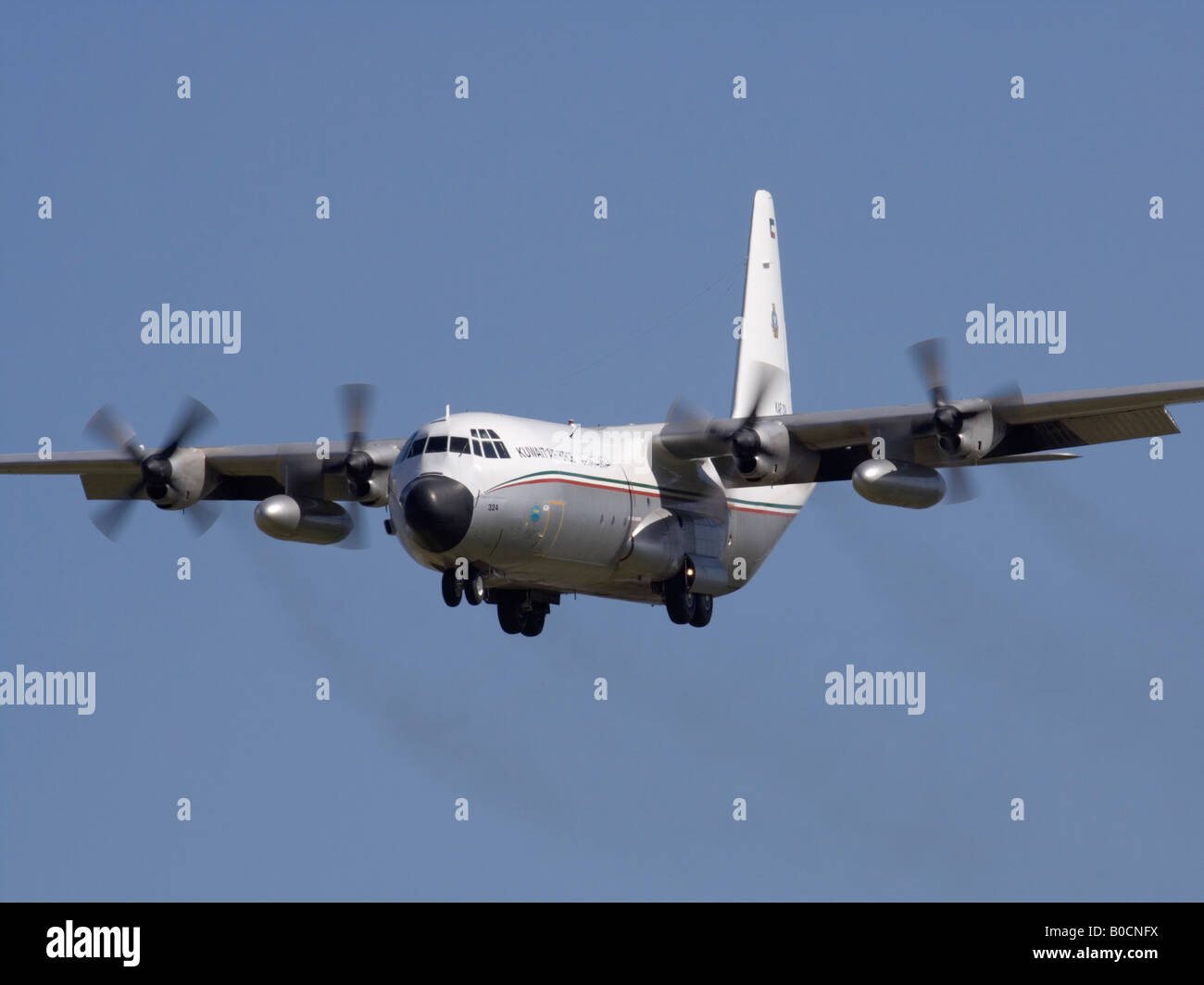 Kuwait Air Force Hercules on arrival - Stock Image