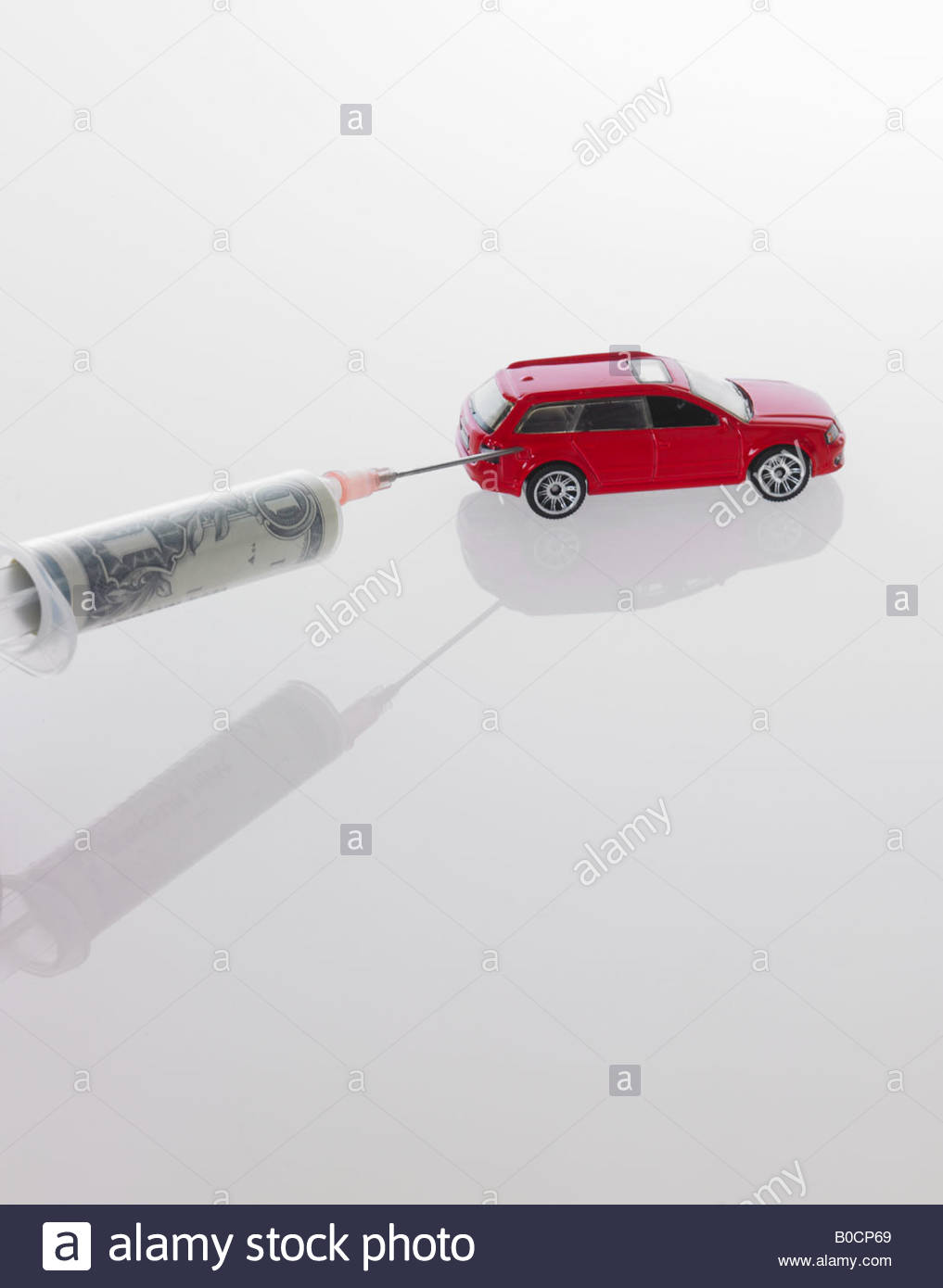 Fuel efficient toy car - Stock Image