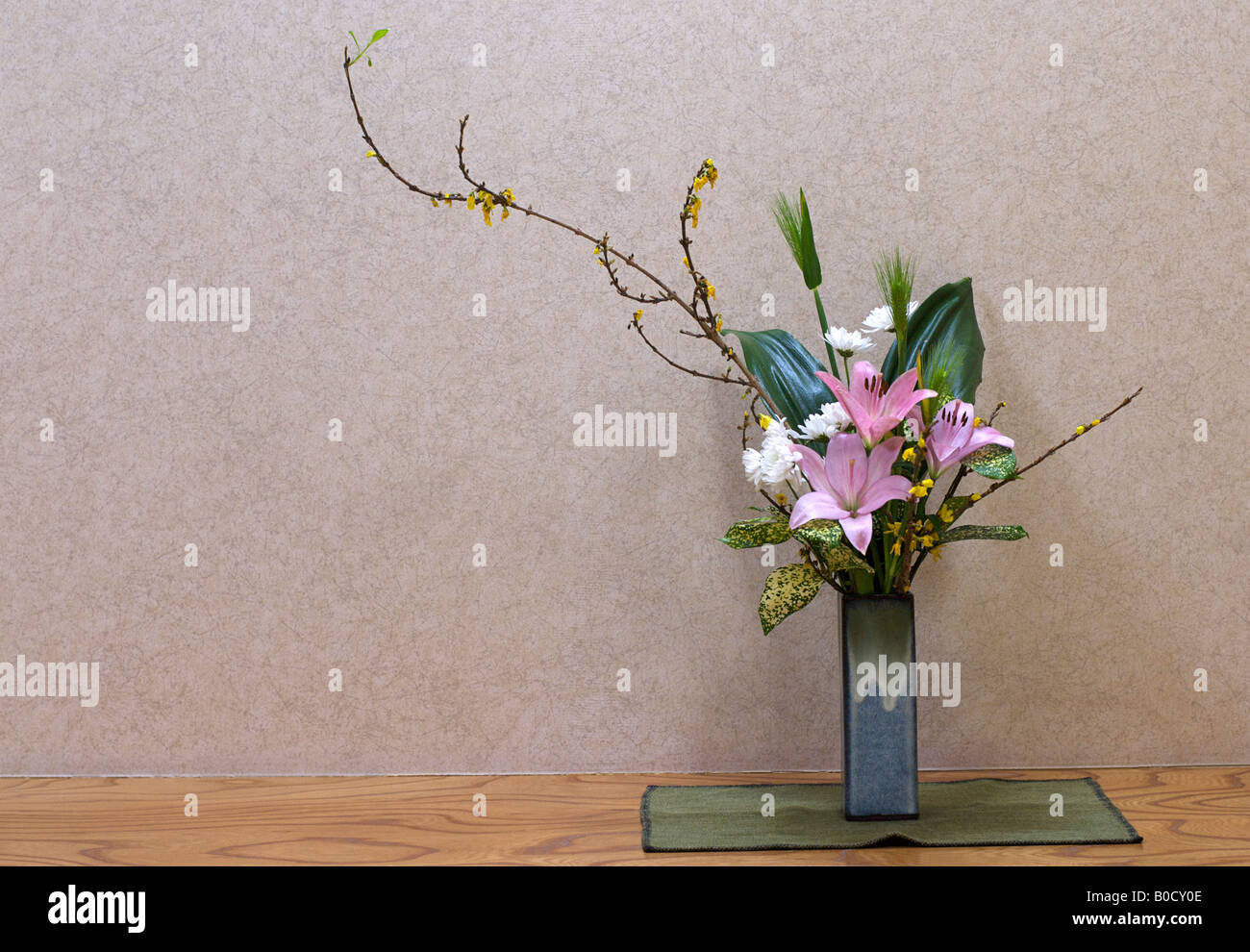 Ikebana Flower Decoration In A Traditional Japanese Ryokan Hotel Stock Photo Alamy