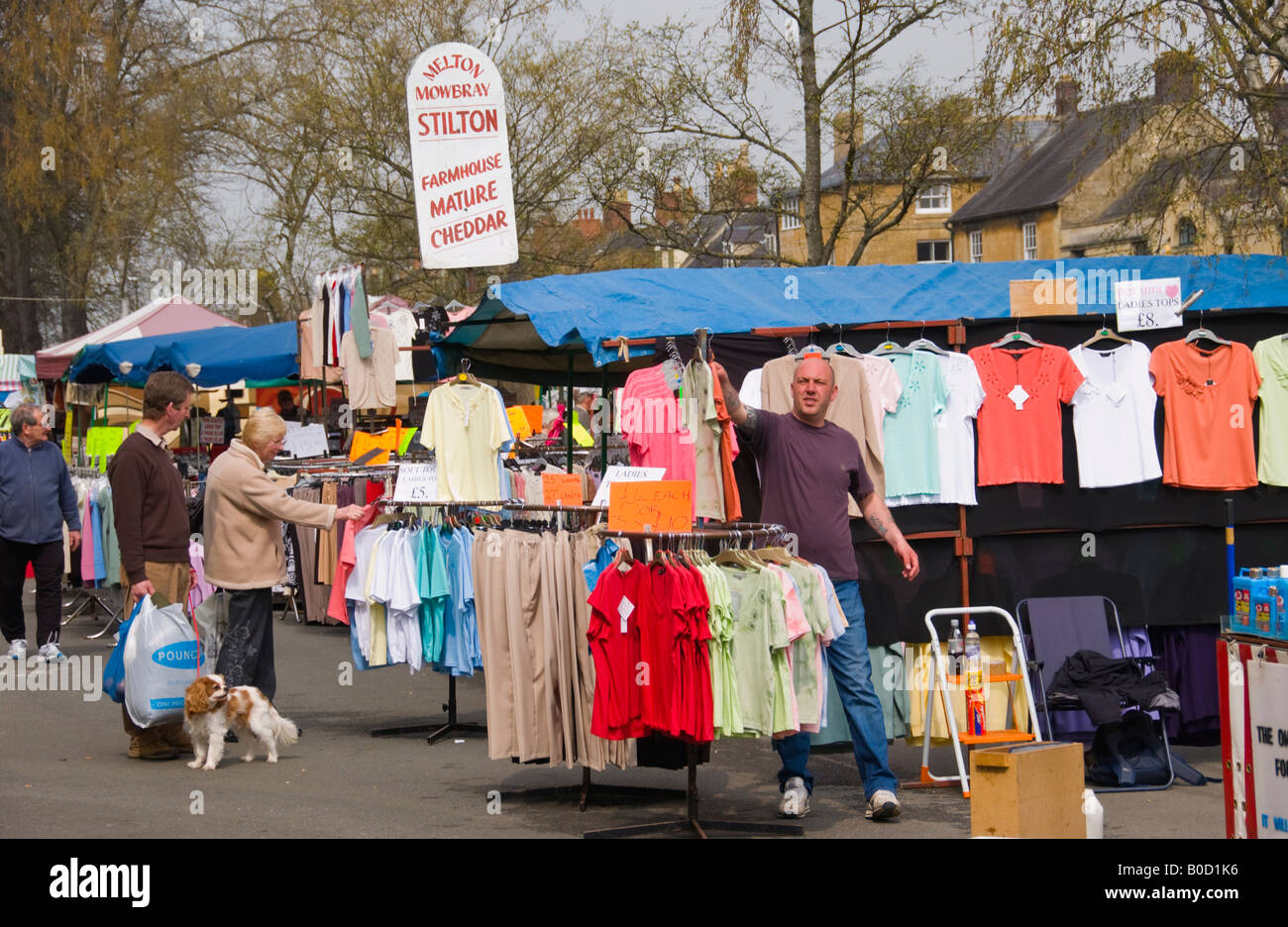 Weekly market in Moreton in Marsh Cotswolds Gloucestershire England UK EU - Stock Image