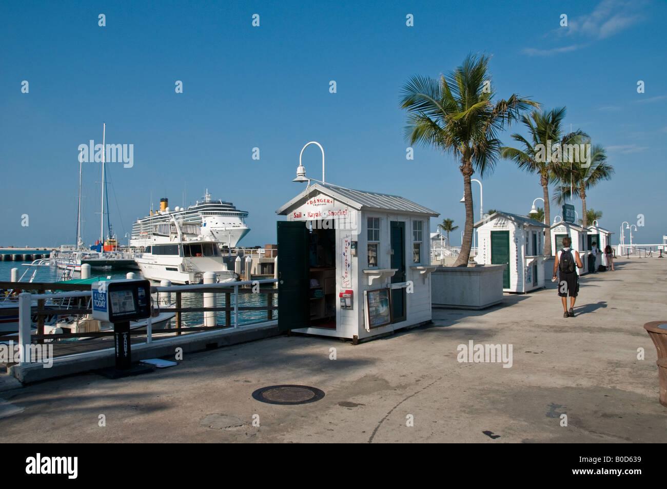 Quay  cruise port landing Key West Florida - Stock Image