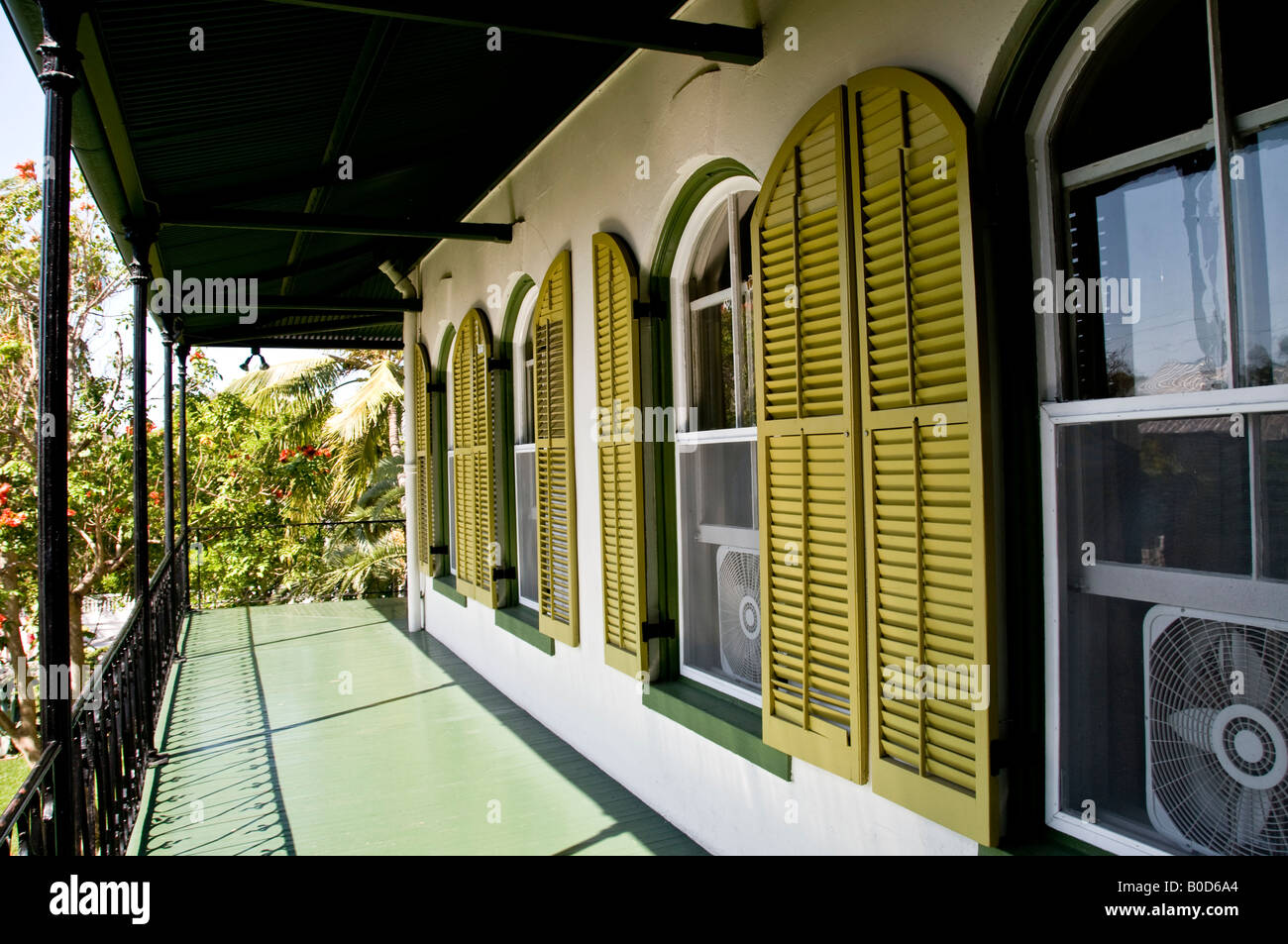 Ernest Hemingway Home and Museum in Whitehead Street in the Old Town Key West Florida USA Stock Photo