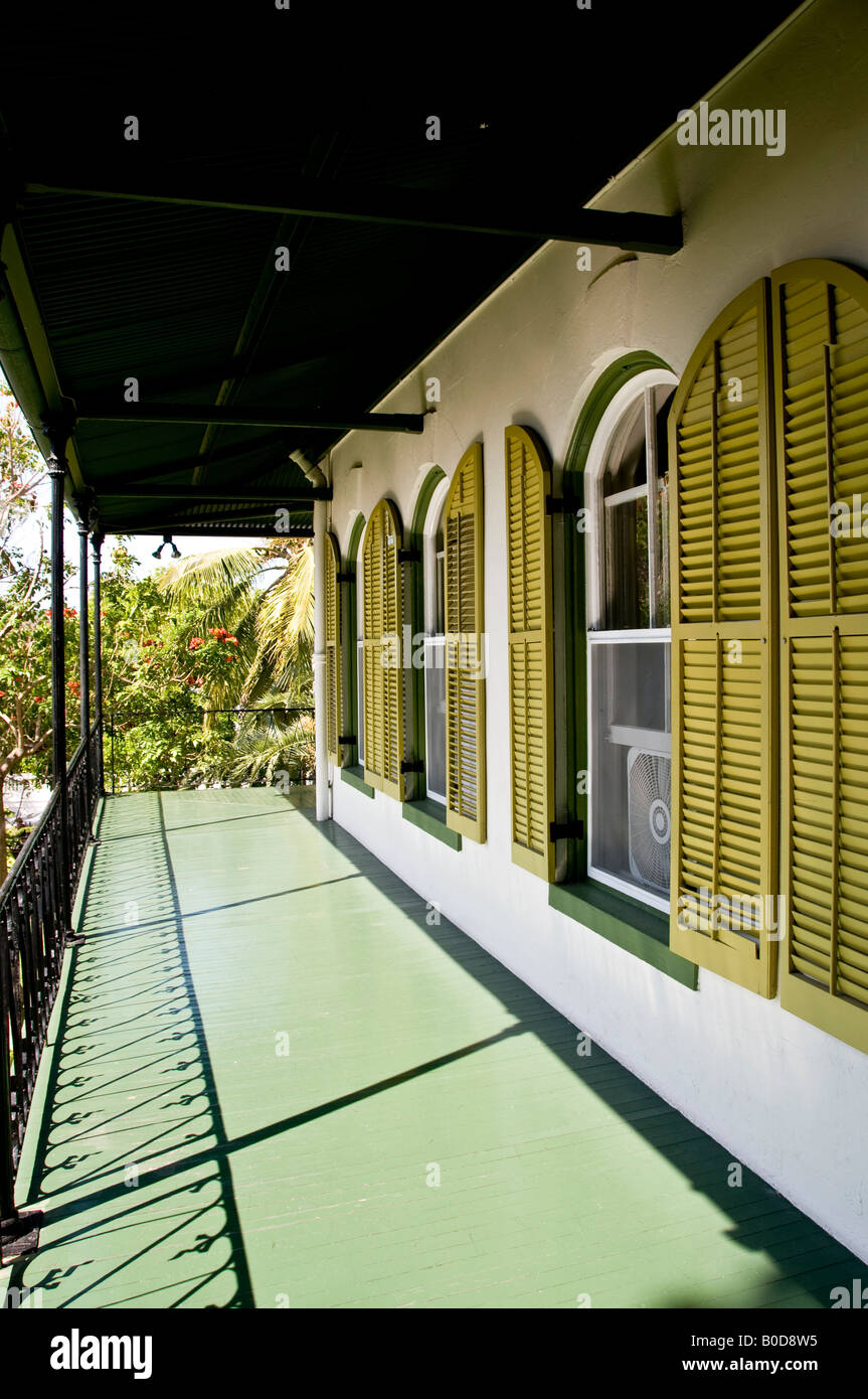 Ernest Hemingway Home and Museum in Whitehead Street in the Old Town Key West Florida USA - Stock Image