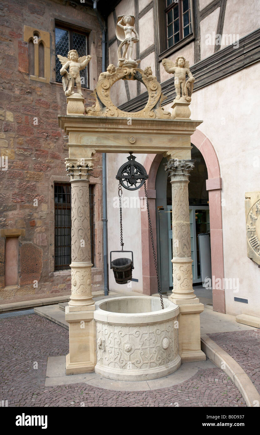 Well at the Musee d Unterlinden Colmar Alsace France Stock Photo