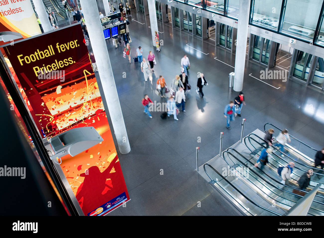 CHE CH Switzerland Zurich Kloten The Zurich airport the Skymetro station at Terminal E passengers are going to the - Stock Image