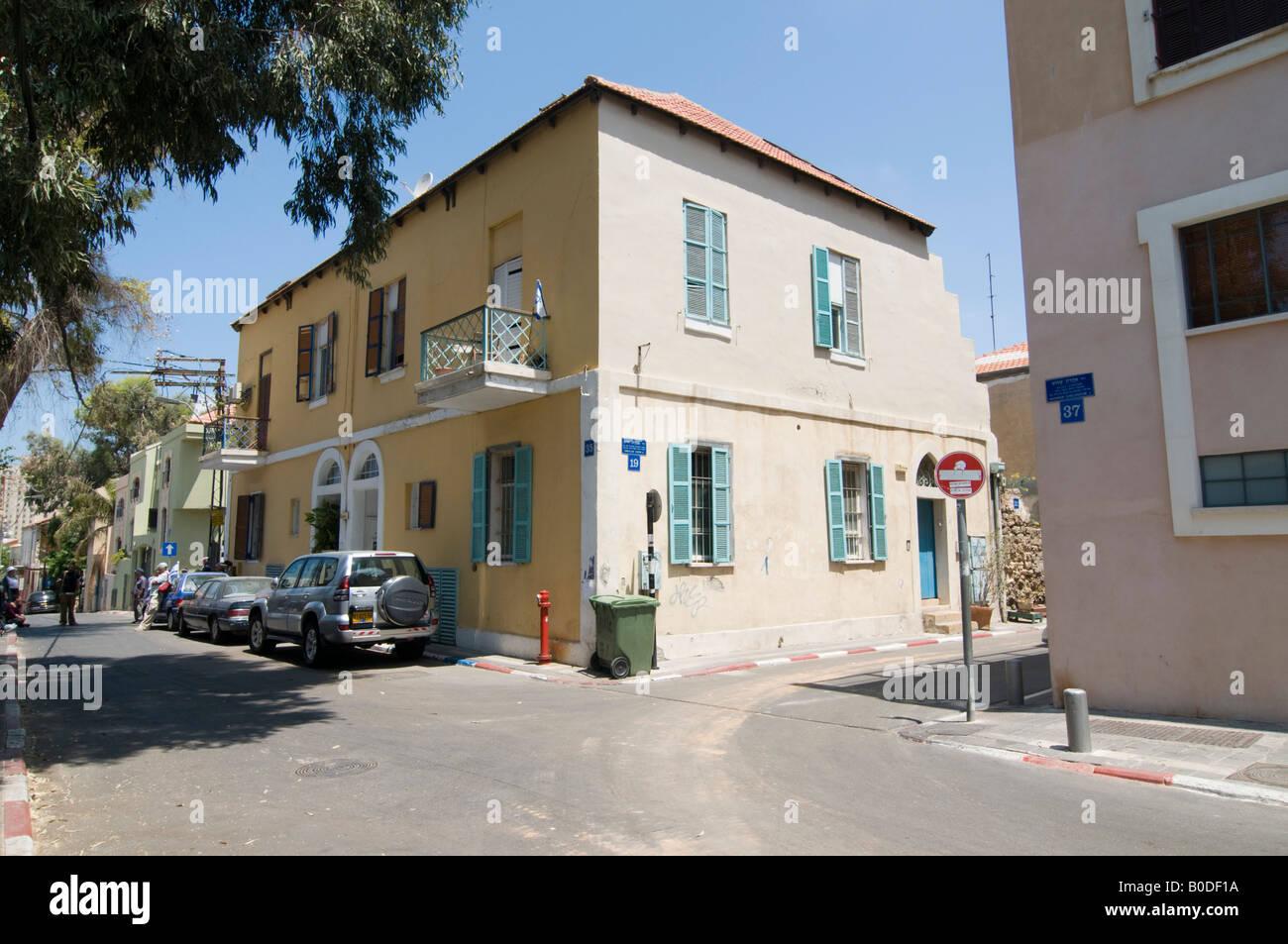 Israel Tel Aviv Neve Tzedek Agnon House residence of Nobel prize laureate writer Shmuel Yosef Agnon at 2 Rokah street Stock Photo