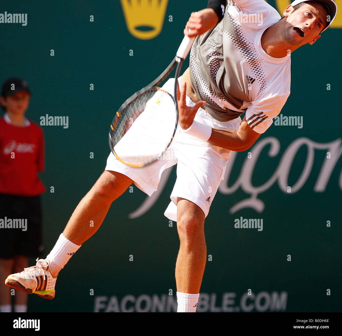 Novak Djokovic  in action at the ATP masters. - Stock Image