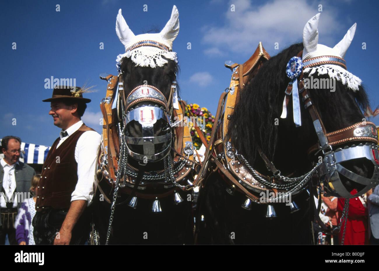 Brewer Oktoberfest Munich Bavaria Germany - Stock Image