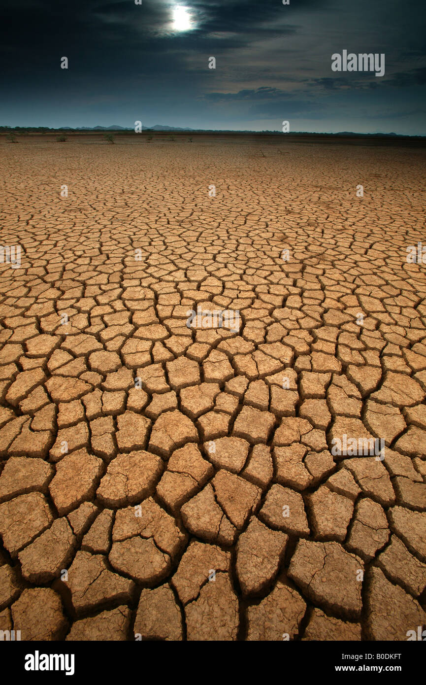 Desert landscape in Sarigua national park in the Herrera province, Republic of Panama. Stock Photo