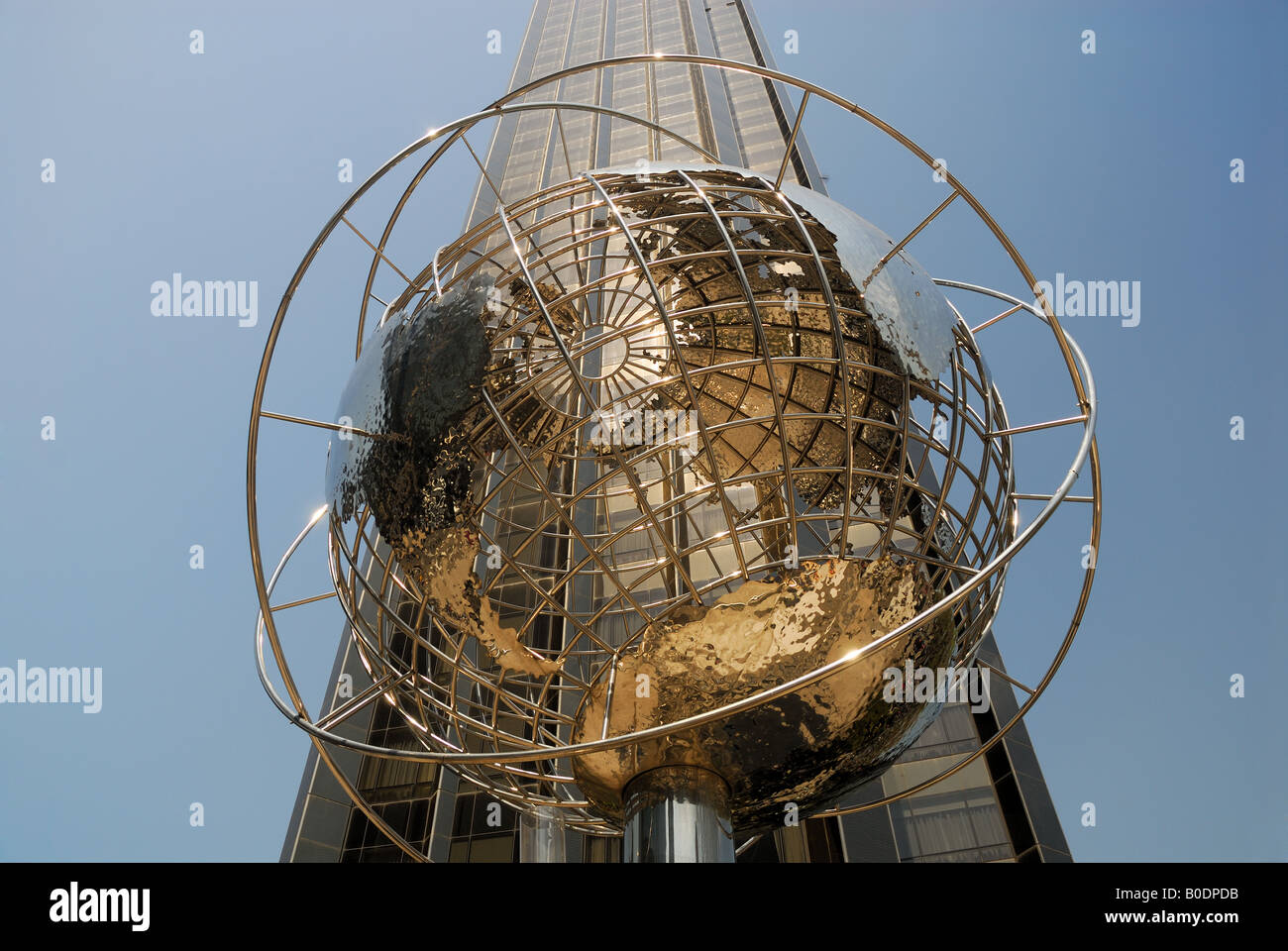 Globe at the Columbus Circle in New York City - Stock Image