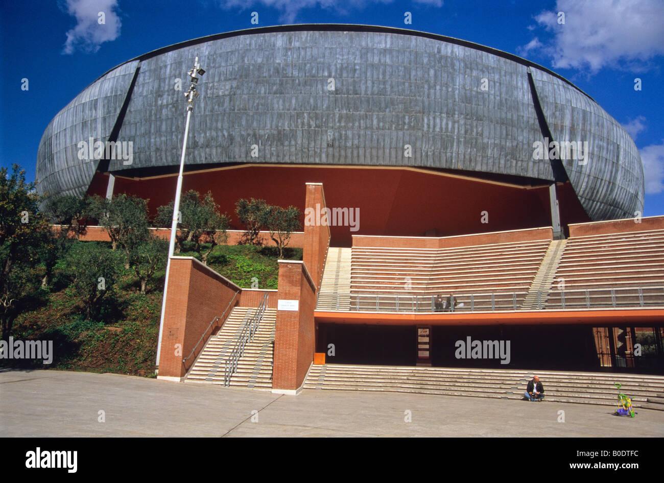 auditorium, parco della musica, by architect renzo piano, rome, lazio, italy - Stock Image