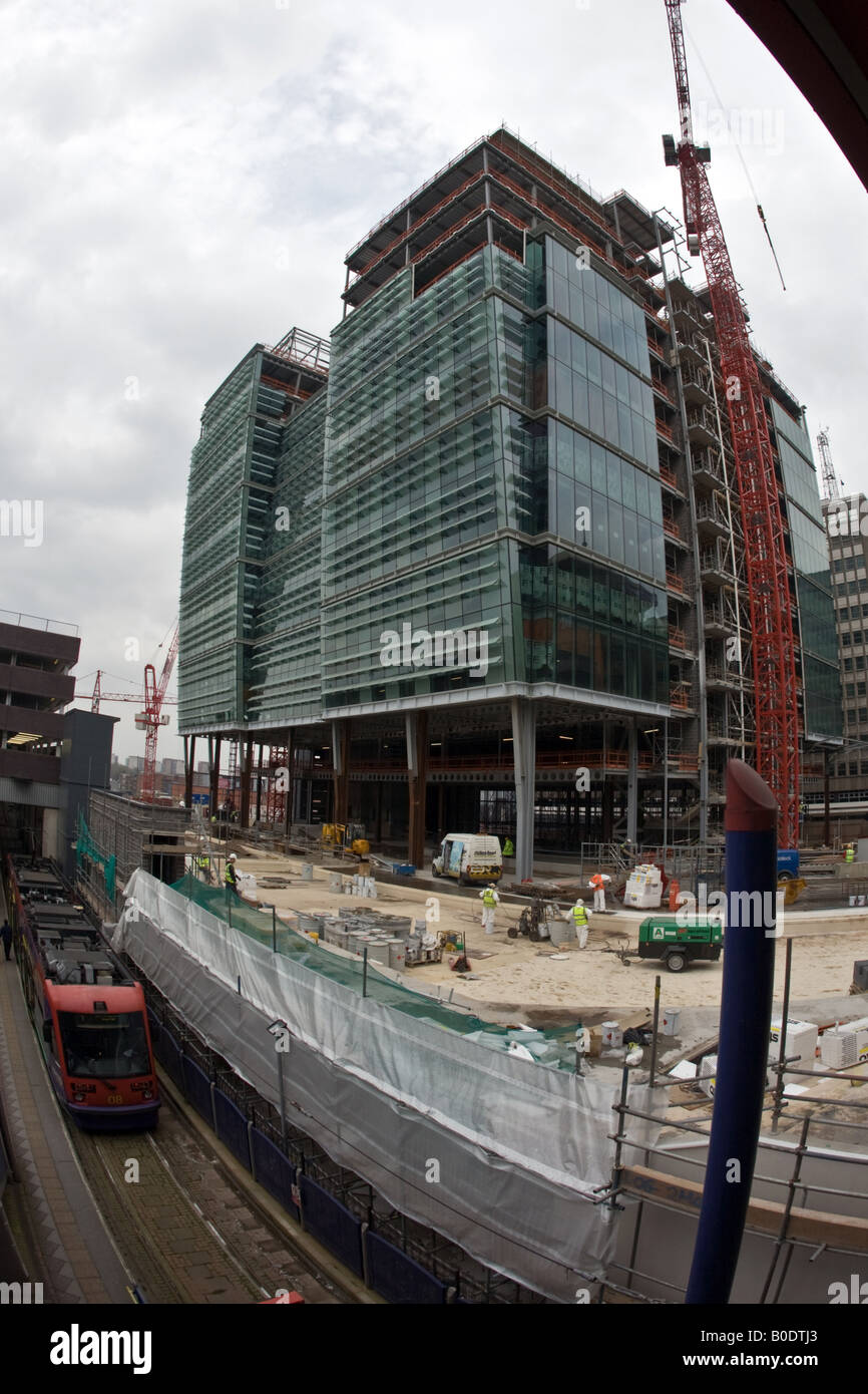 Construction of Snowhill 1 2 3 building in Birmingham City Centre Stock Photo