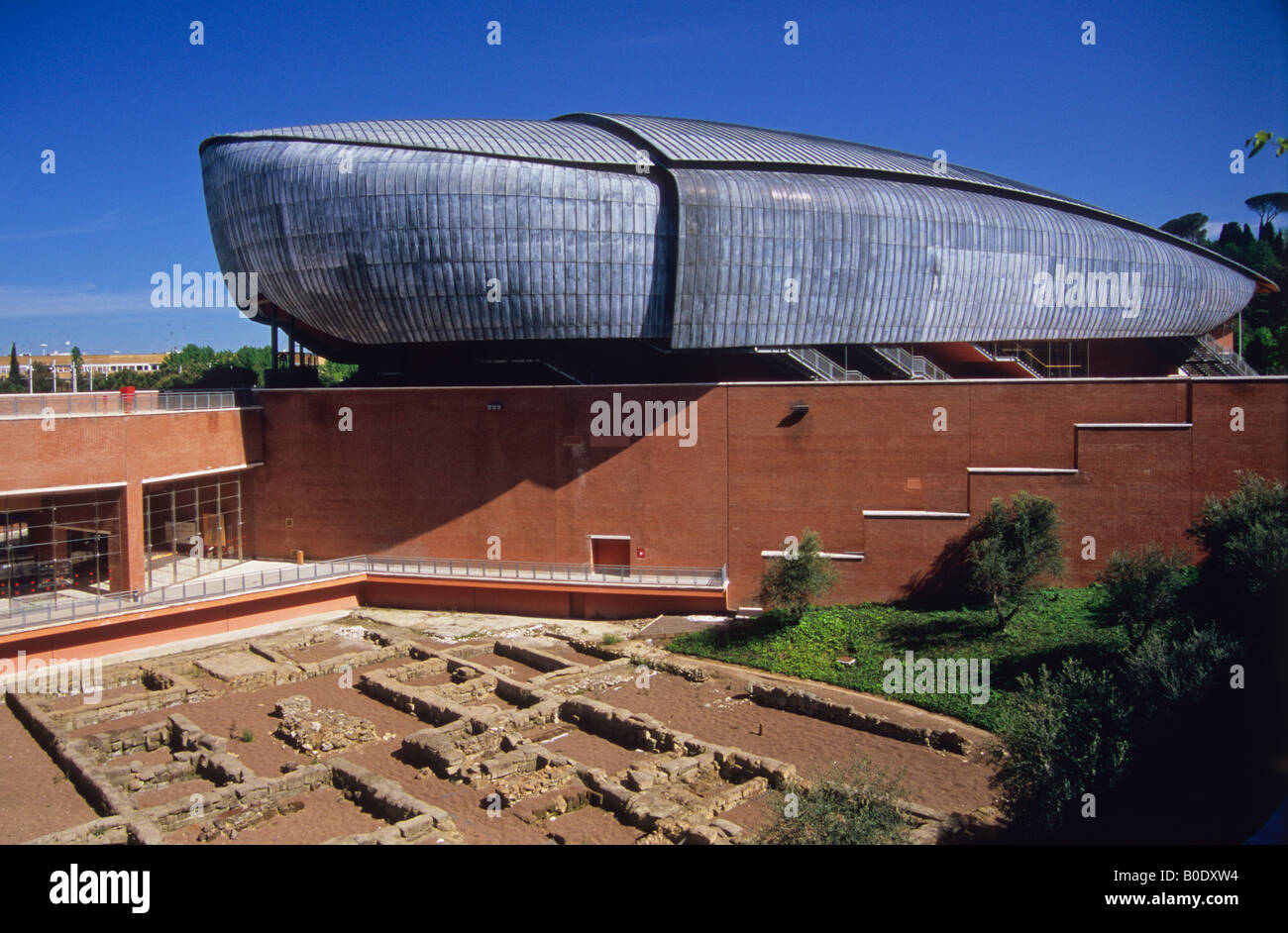 auditorium, parco della musica, by architect renzo piano, rome, lazio, italy Stock Photo