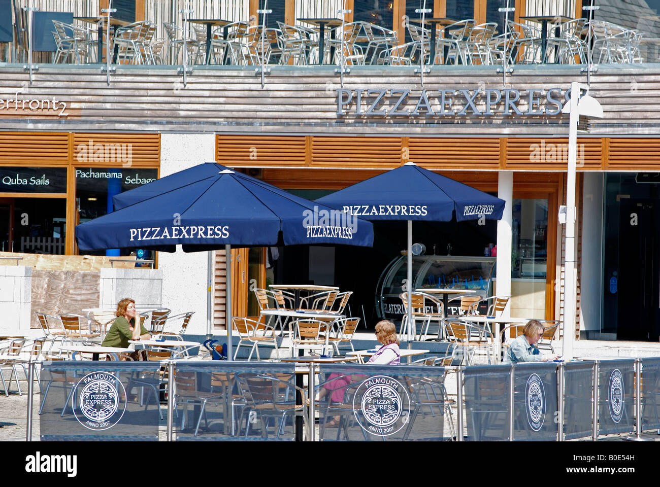 The New Pizza Express Restaurant On Events Square In Stock