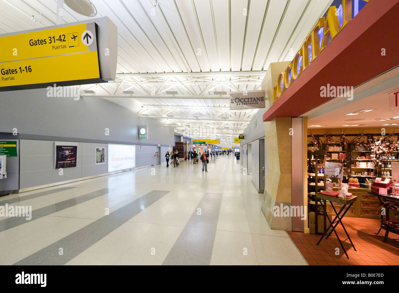 Duty Free Shops in American Airlines Terminal 8, JFK Airport, New York - Stock Image