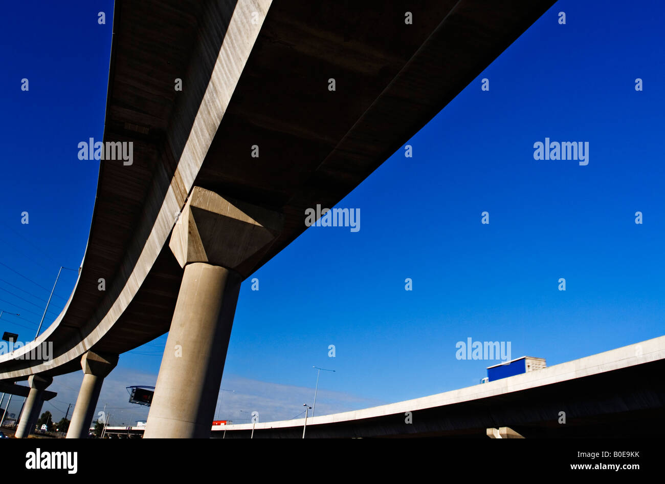 Transportation and Freeways / A Flyover on a Melbourne Freeway.Melbourne Victoria Australia. - Stock Image