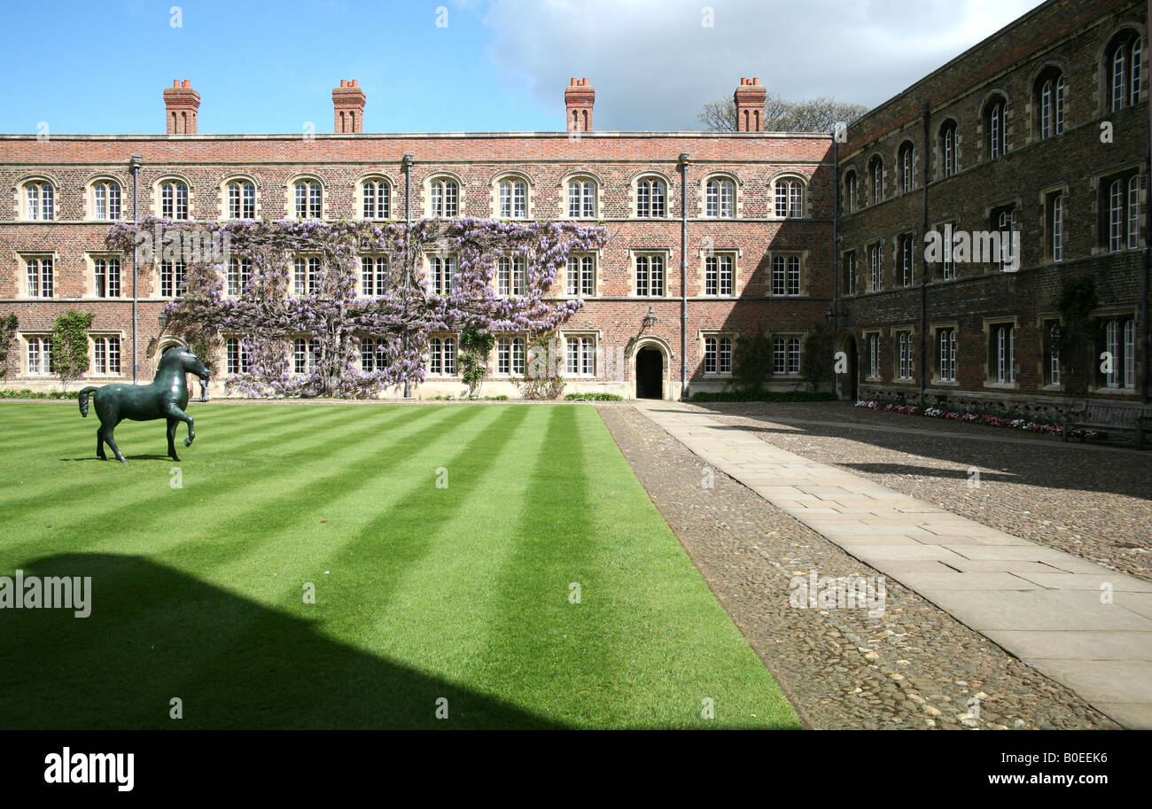First Court in Jesus College Cambridge - Stock Image