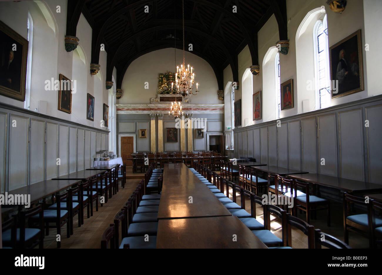 The Hall in Jesus College Cambridge - Stock Image