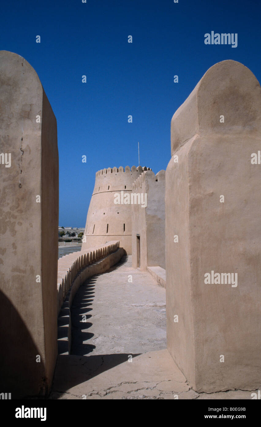Bukha Fort in the coastal town of Bukha on the remote Musandam Peninsula, Oman. Stock Photo