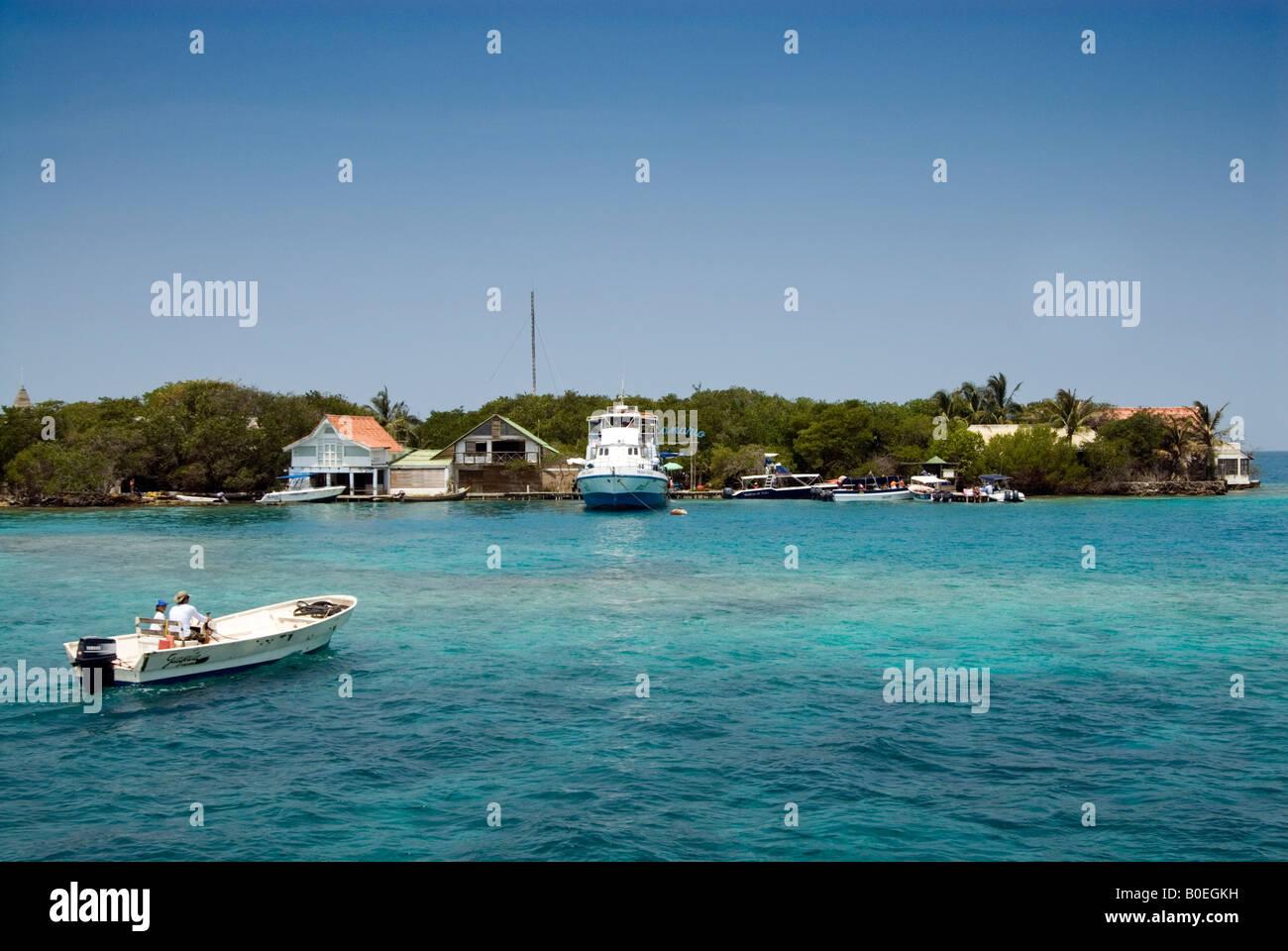 Isla de San Martin de Pajarales one of the Islas de Rosario, Cartagena de Indias, Colombia - Stock Image