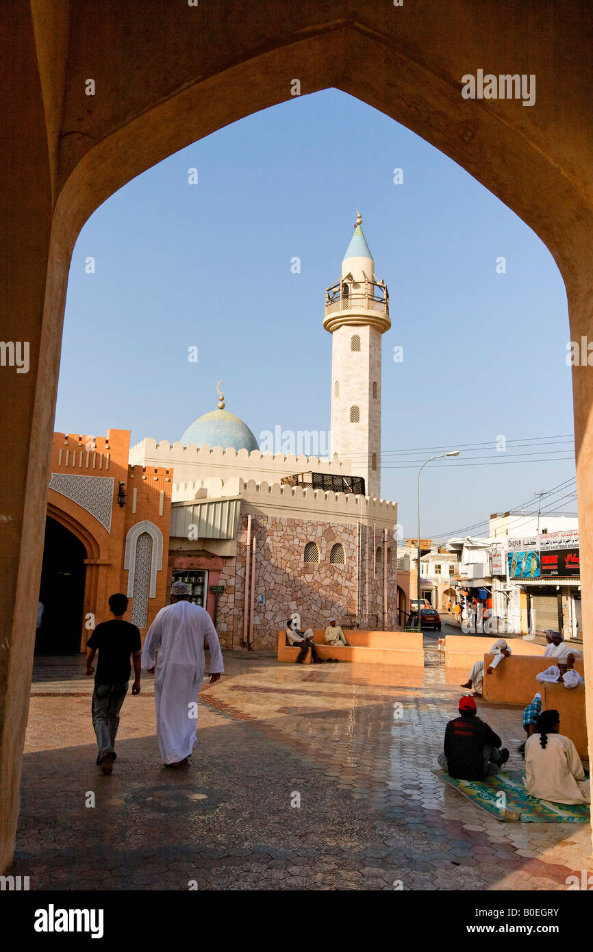 Oman Muscat city center Moschee muslim people Mutrat Souk - Stock Image