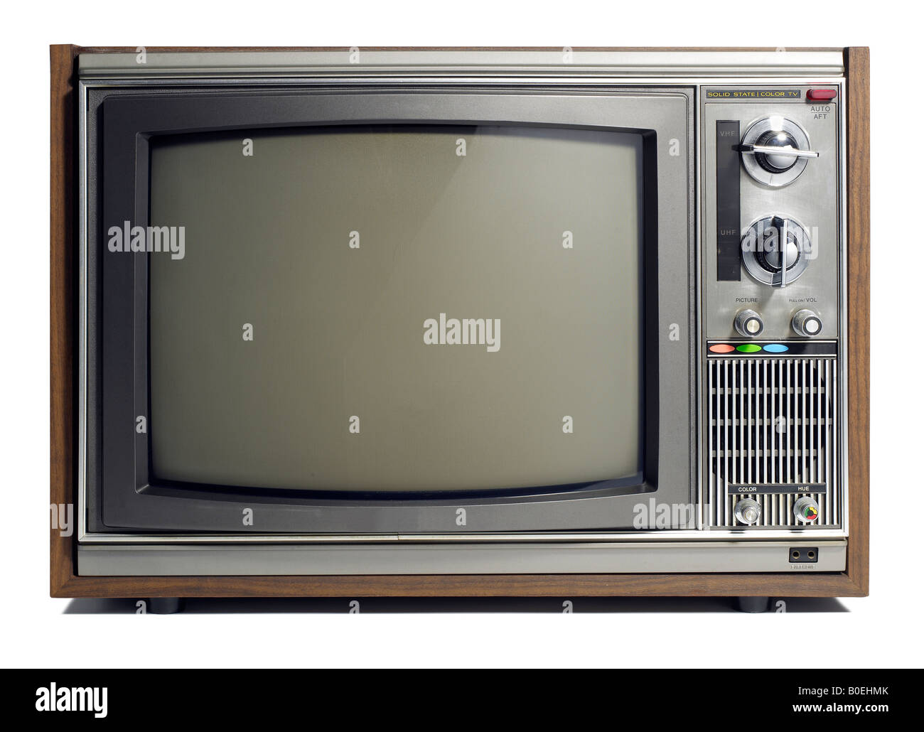 Old Tube Television CRT TV Stock Photo