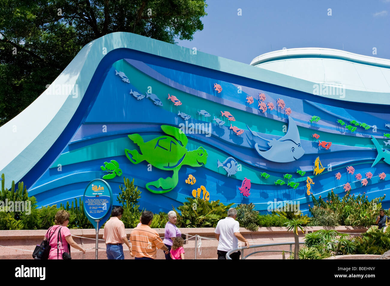 entrance to the seas with nemo attraction at walt disney 39 s epcot stock photo 17531639 alamy. Black Bedroom Furniture Sets. Home Design Ideas