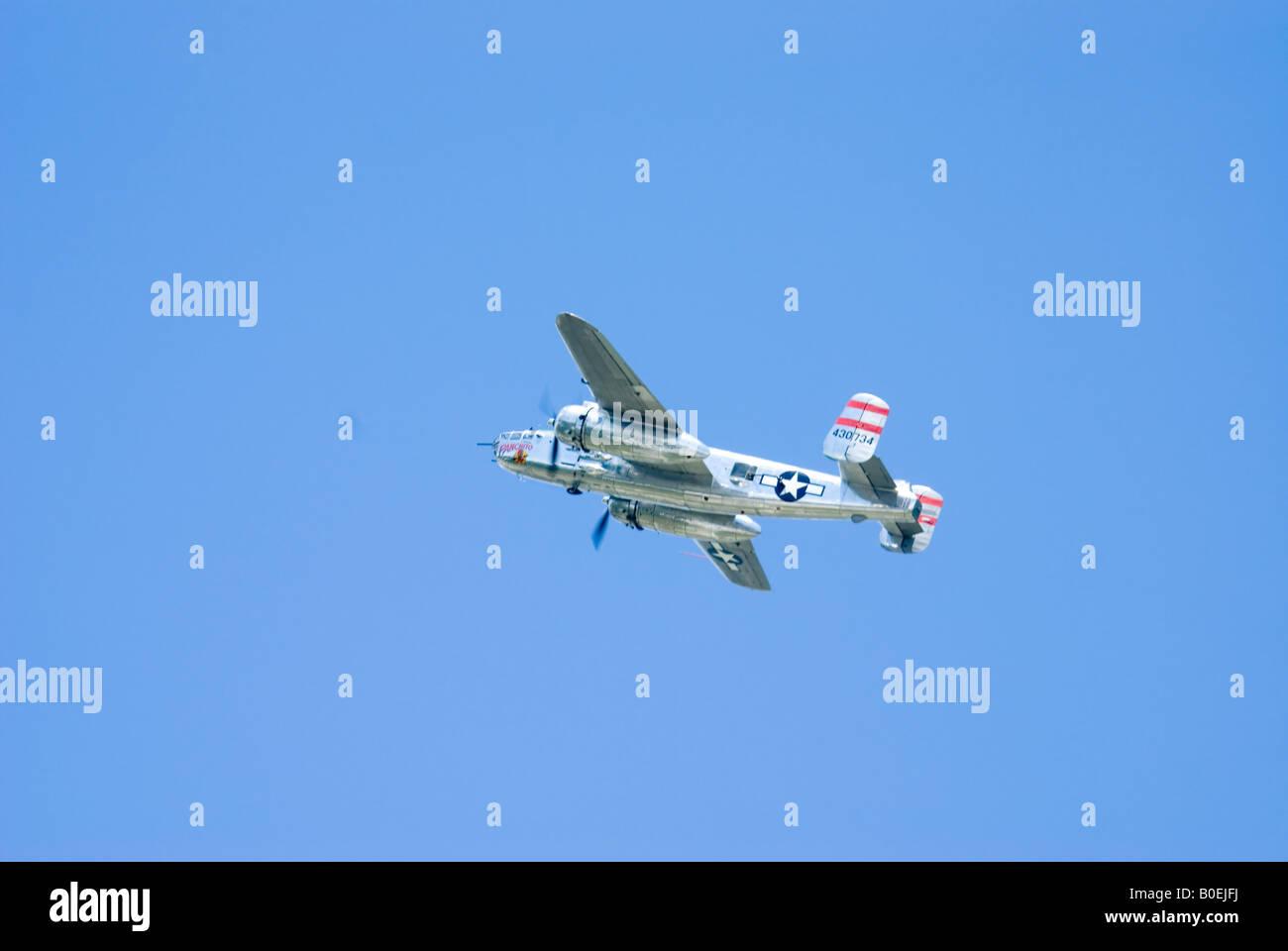 Mitchell B-25 twin engine airplane - Stock Image