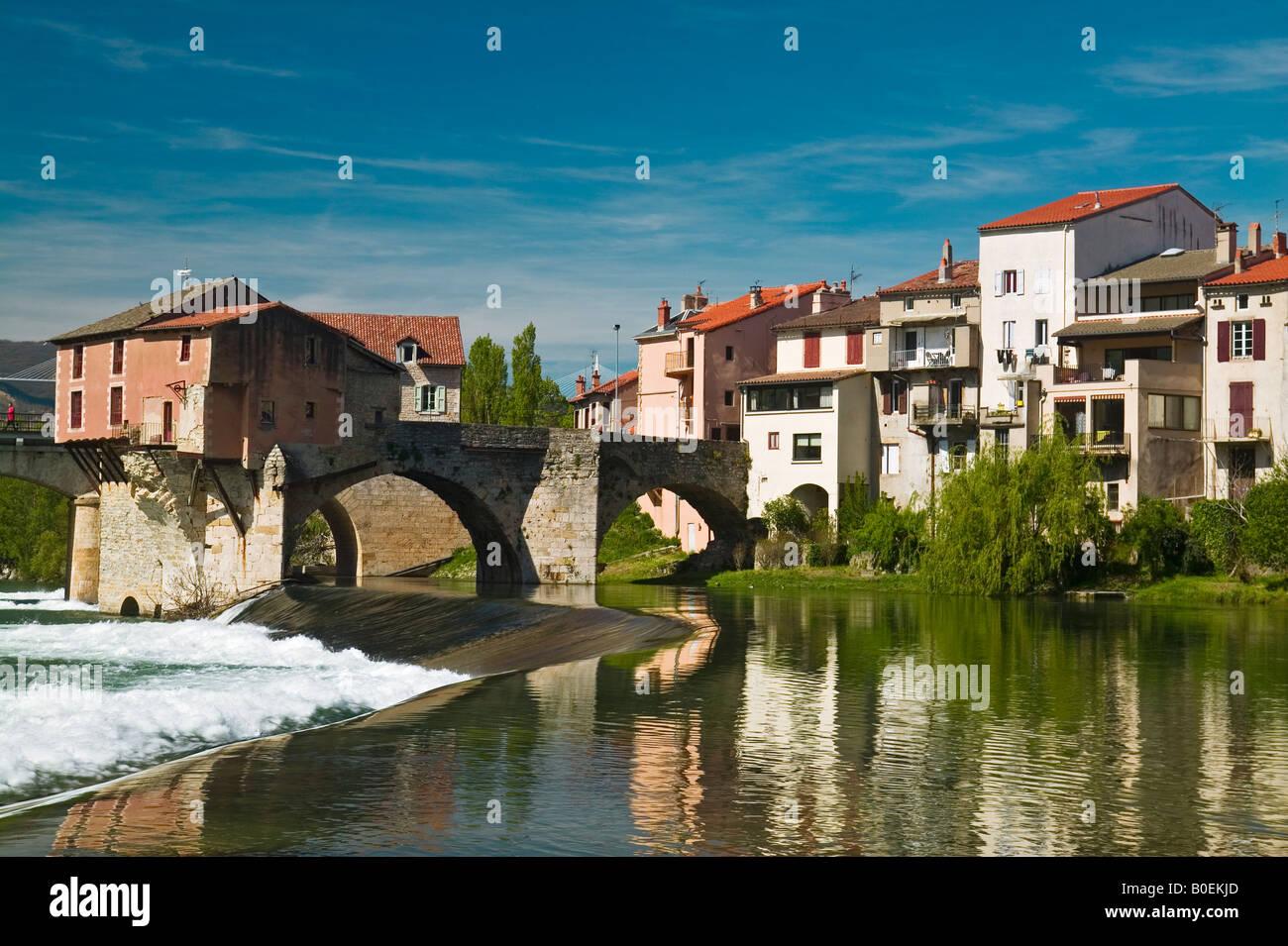 The Tarn River At Millau, Aveyron, France - Stock Image