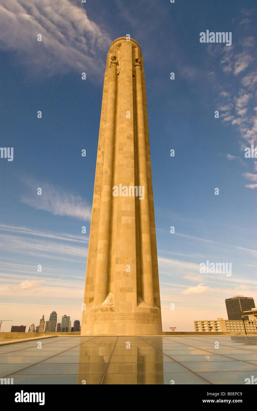 National World War I Museum at Liberty Memorial Kansas City Missouri MO official World War I museum - Stock Image