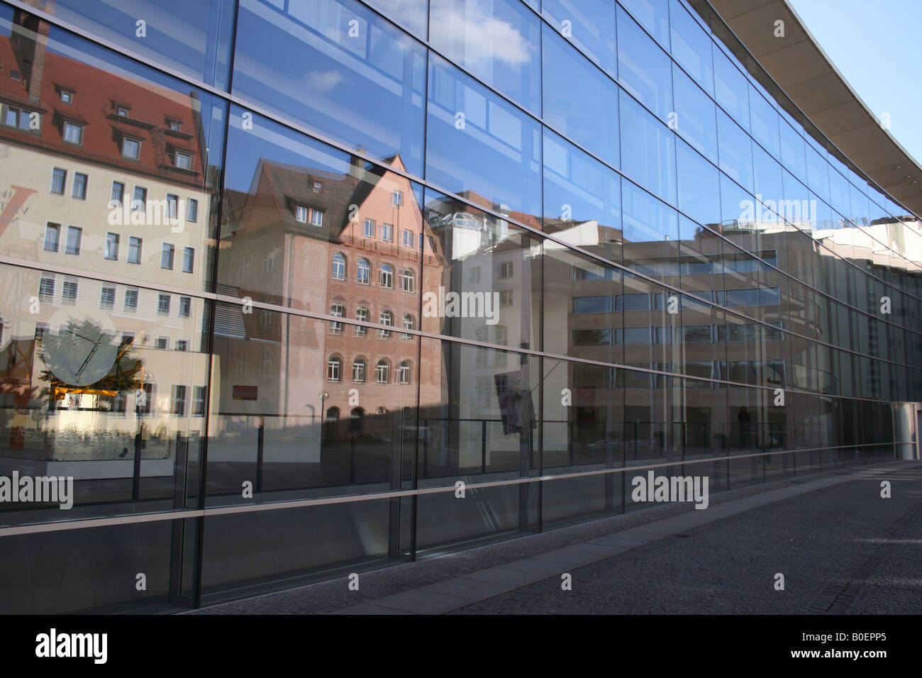 facade of Neues Museum, Nuremberg, Bavaria, Germany, Europe.Photo by Willy Matheisl Stock Photo